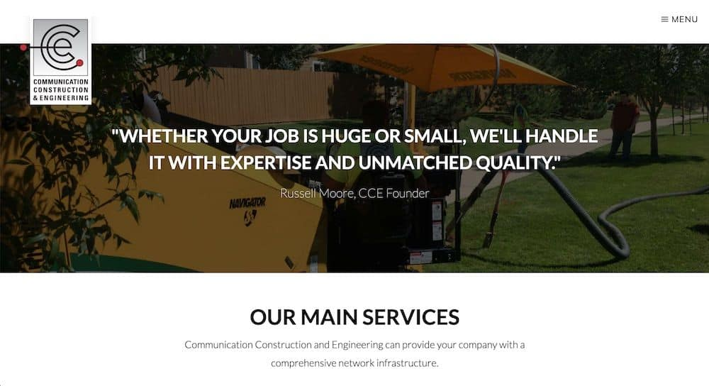 Communication Construction Engineering Homepage