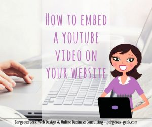 How to embed a YouTube video on your website