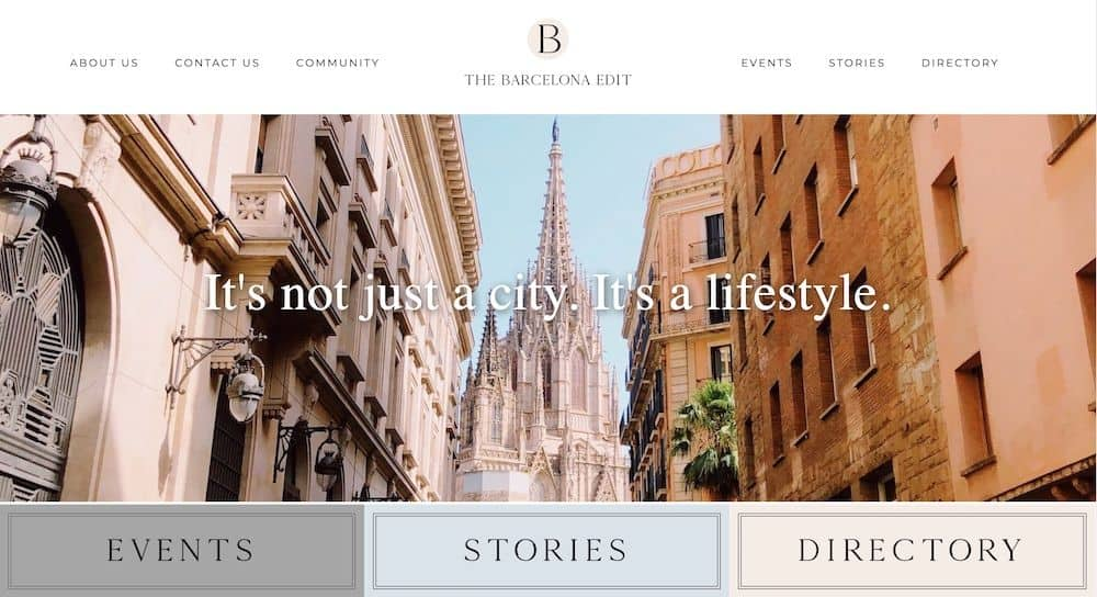 The Barcelona Edit Homepage